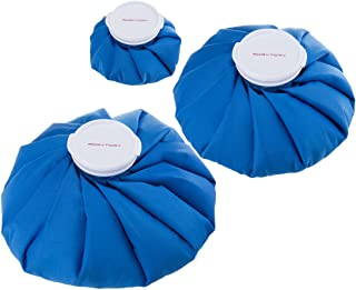 RoryTory 3pc Reusable Medical Ice Bags for Injuries | Leak Proof First Aid Insulated Hot Water Bag or Cold Compress Treatment for Sports Recovery, Pain Relief, Fever, Arthritis, Knee Water Ice Pack