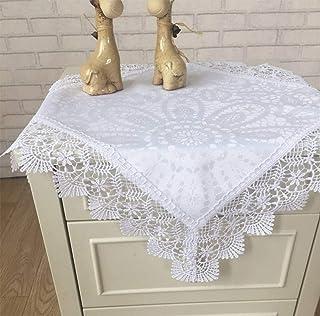 SUNHAO Mantel Cubierta de la Bandera de la Mesa Toalla Blanca patrón Jacquard paño Mesa de café gabinete TV Polvo Cala