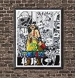 OP God Usopp Japanese Anime Canvas Art Print,8 x 10 Inches,No Frame