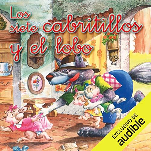 Diseño de la portada del título Los siete cabritillos y el lobo (Narración en Castellano)