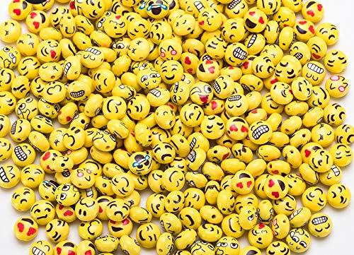 25 Unds. abalorios pasta arcilla polimero diseños emoticonos mix para diseñar o regalar tus propias pulseras, collares, pendientes, gargantillas, llaveros, accesorios.de 12 mm de CHIPYHOME