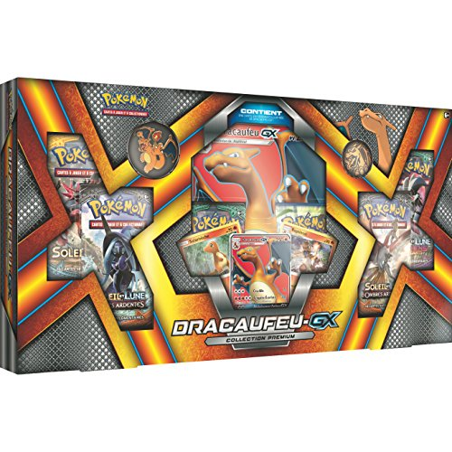Pokémon - Jeux de Cartes - Coffret - Exclusif Noël 2017 - Dracaufeu GX Collection Premium