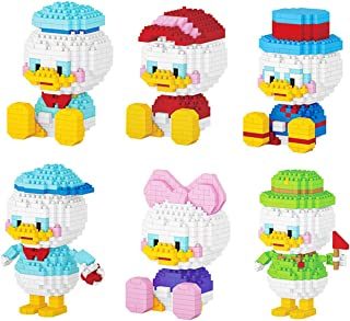 Mini Disney Building Blocks 3D Model 6 in 1 Cartoon Duck Building Blocks Toy 1800+ pieces Bricks 3D Puzzle Educational Toy...
