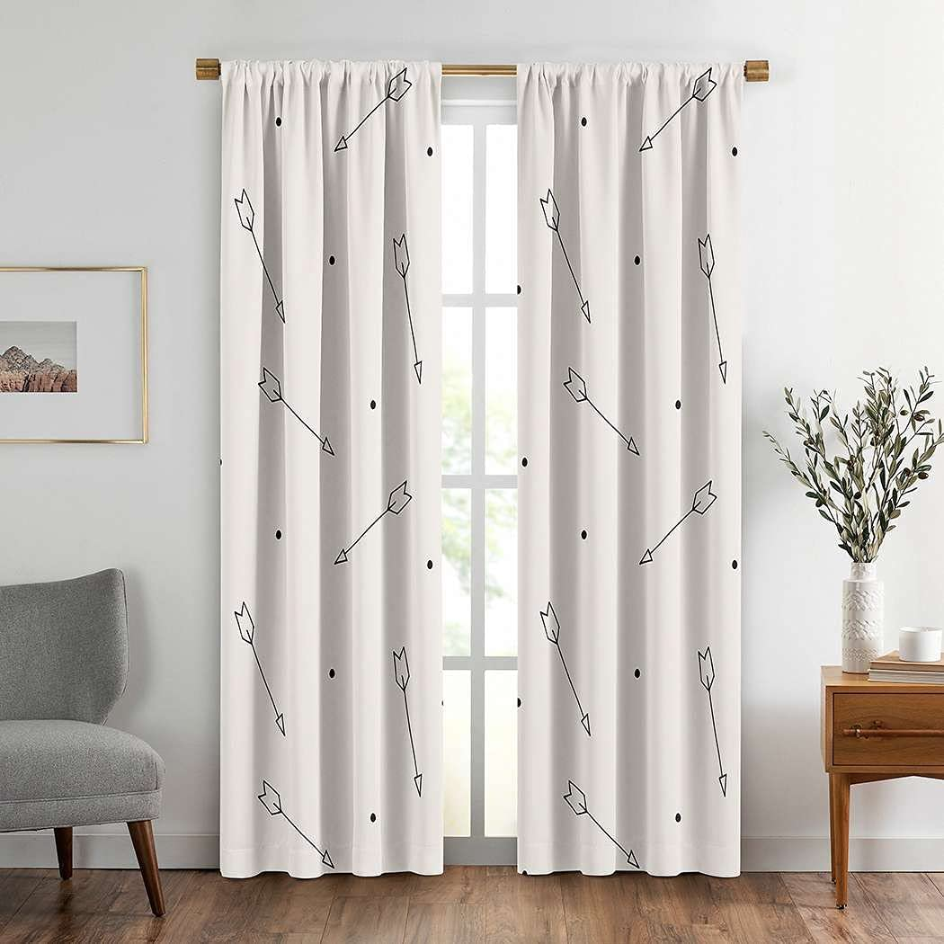 Arrows Window Drapes Curtain 2 Tribal Brown trend rank Panels Abstract favorite Arro