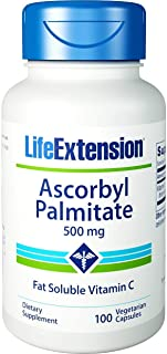 Life Extension Ascorbyl Palmitate 500 Mg, 100 veggie caps