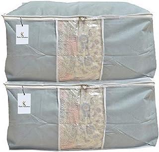 Kuber Under Bed Storage Organizer Set, Grey, Standard, Underbedorga02, 2 Pieces