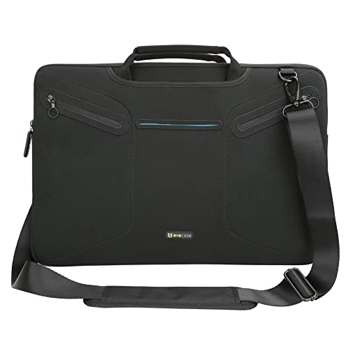 Evecase Multi-functional Carrying Messenger Case with Handle and Shoulder Strap for 17 - 17.3