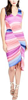 Women's Printed Draped Ruched Dress