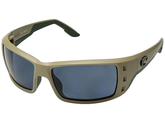 Costa  Permit (Sand/Gray 580P) Fashion Sunglasses