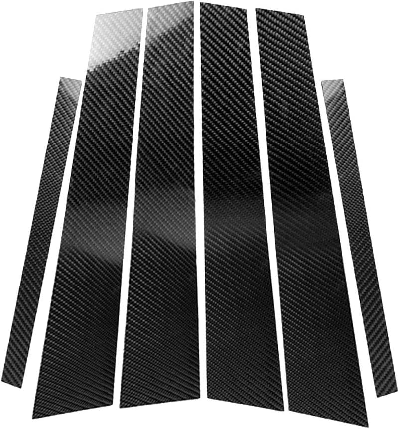 FLAMEER Carbon Fiber Car Window Molding Trim B-Pillars Pi 男女兼用 注文後の変更キャンセル返品