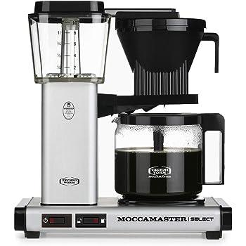 Moccamaster KBG 741 AO Independiente Totalmente automática - Cafetera (Independiente, Cafetera de filtro, 1,25 L, De café molido, 1520 W, Negro): Amazon.es: Hogar