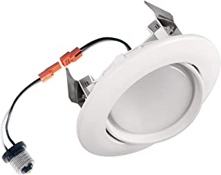 OSTWIN 4 inch Dimmable LED Downlight Recessed Ceiling Light Fixture, Adjustable Gimbal Trim Kit Can Light, 10 W (75 Watt Replacement), 900 Lm, 5000K Daylight, ETL & Energy Star
