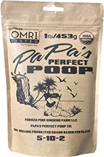 Papas Perfect Poop 100% Organic Plant Food & Fertilizer. Patented & OMRI Listed - 1lb Bag