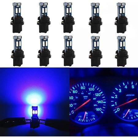 10 Pack T5 Twist Socket Red Led Instrument Panel Cluster Plug Blue Dash 73 74