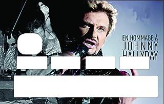 SUPER FABRIQUE Stickers Hommage Johnny Hallyday pour Personnaliser Votre Carte Bleue Selon l'envie du Moment