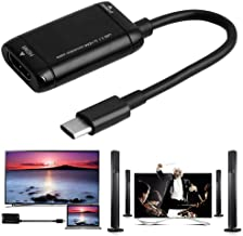 Adasea USB C to HDMI Adapter USB Type C to HDMI Cable USB 3.1 Cable For MHL Android Phone Tablet Black