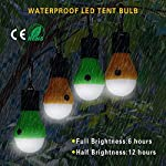 Doukey LED Camping Light [2 Pack or 4 Pack] Portable LED Tent Lantern 4 Modes for Backpacking Camping Hiking Fishing…