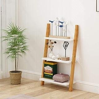 KaminHome - Estantería Madera Marta Forma Escalera Almacenamiento Libros Pared Cocina salón habitación Organizador decorac...