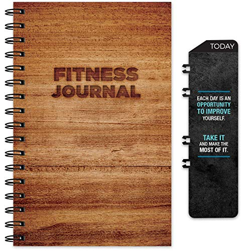 Product Image 1: Workout Fitness Journal Nutrition Planners: Clip-in Bookmark, Sturdy Binding, Thick Pages & Laminated Protective Cover (Brown)
