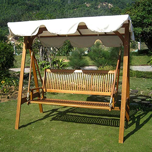 International Caravan Furniture Piece Royal Tahiti 3 Seater Swing with A-Frame and Canopy