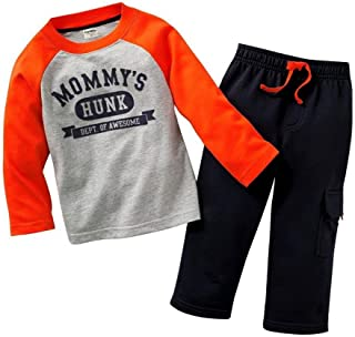 Gotend Boys Long Sleeve Clothing Set Baby T-Shirt+Pants Outfits Pajamas Set