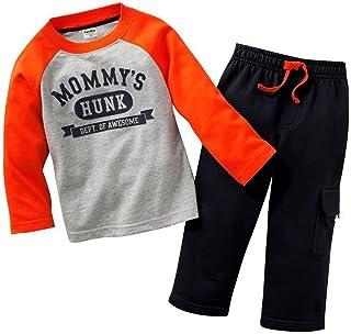 Coralup Chándal de camuflaje para niños pequeños + pantalones 2 piezas de algodón para niños de 18 meses a 8 años