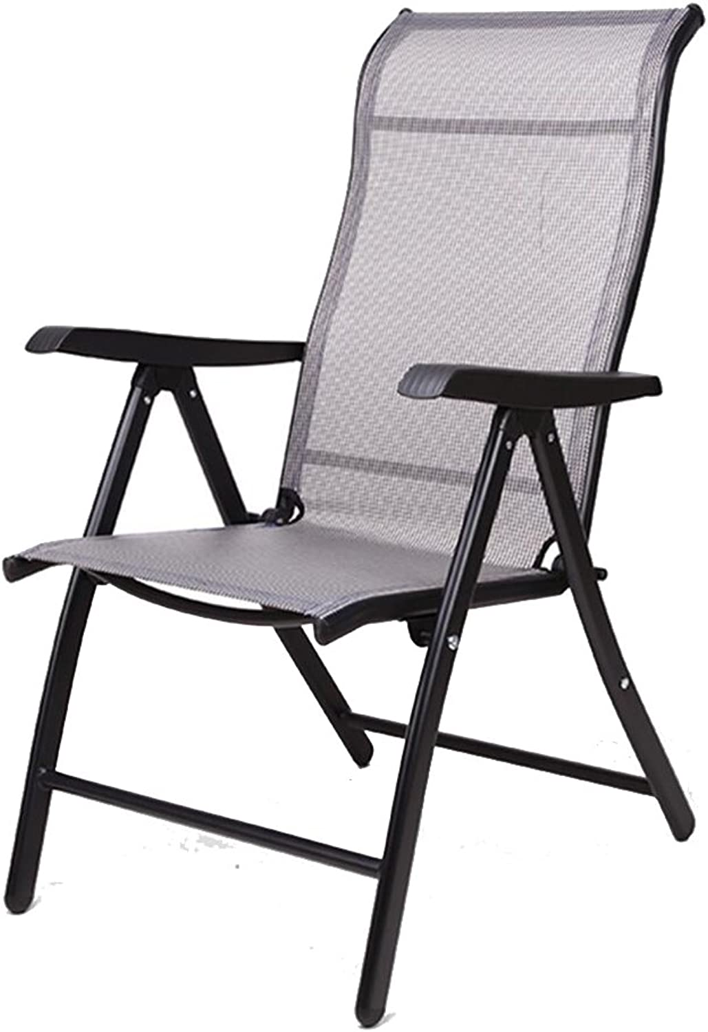 KTYXGKL Folding Chair Home Recliner Lunchtime Nap Chair Office Happy Lazy Backrest Beach Chair Folding Chair (color   Black)