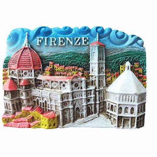 Imán de nevera 3D de Florencia de Florencia Italia recuerdo para decoración del hogar y la cocina, imán de nevera de Florencia
