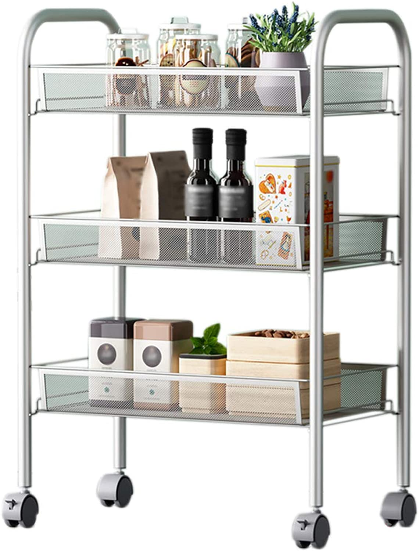 HUYP Silver Kitchen Bedroom Shelf Storage Racks Home Supplies Fashion Office