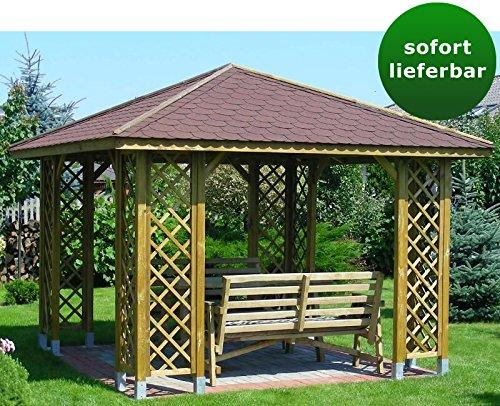 Pavillon Jasminum, Pfostenstärke 9 x 9 cm- Abmessung: 292 x 292 cm (L x B)