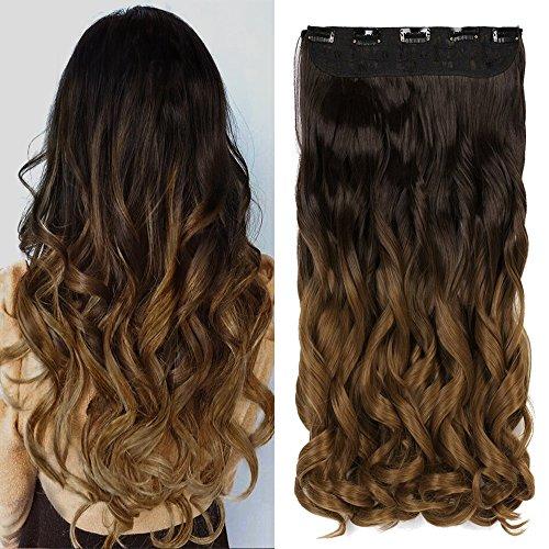Neverland Clip in Hair Extensions Ombre haar extensions Haarverlängerungen Dip Dye (G)