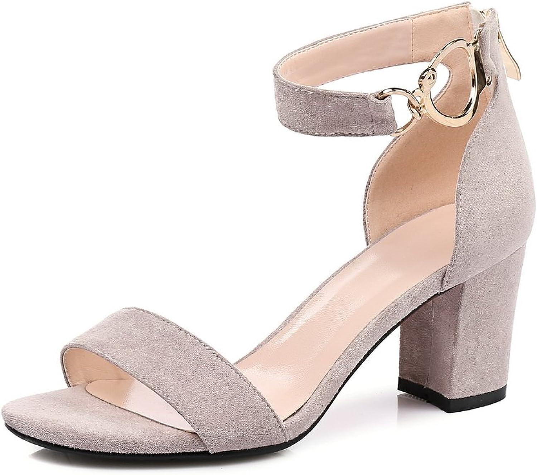 AdeeSu Womens Nubuck Fashion Solid Urethane Sandals SLC04096