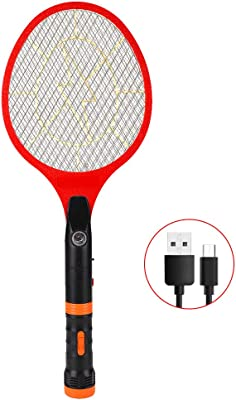 YAGA Fly Swatter Electric—3000Volt,USB Rechargeable with LED Light, Removable Flashlight,Hand Held Electric Mosquito Racket Zapper Swatter for Indoor and Outdoor