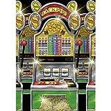 NET TOYS Machine à sous Casino Machine Bandit Style Las Vegas déco Murale Tatouage Mural événement Jeu de...