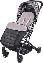 SONARIN Universal Premium Fußsack für Kinderwagen,Wasserdicht und winddicht,weicher Deluxe ThermoFleece,Cosy Toes,für Jogger, BuggySchwarz