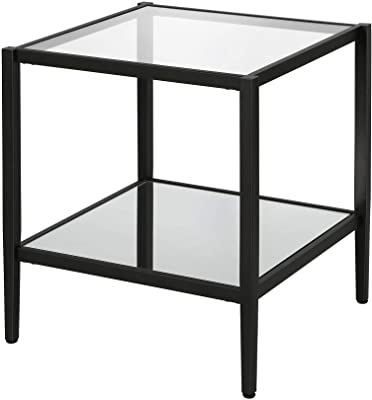 Monarch Specialties I 3043 Bronze Metal and Cappuccino Marble Snack//End Table