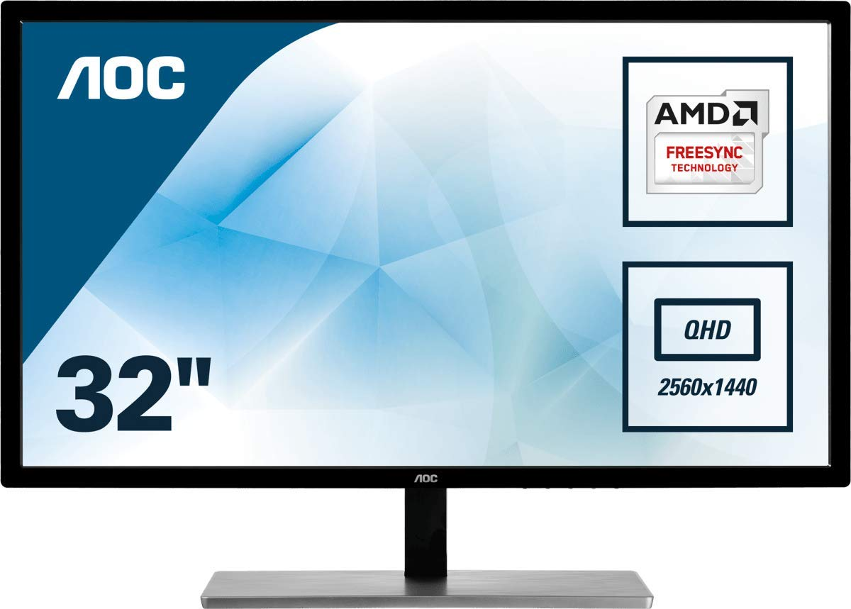 Amazon Com Aoc 31 5 Led Freesync Va Dp Hdmi 2560 X 1440 Qhd Q3279vwf 2560 X 1440 Qhd Computers Accessories