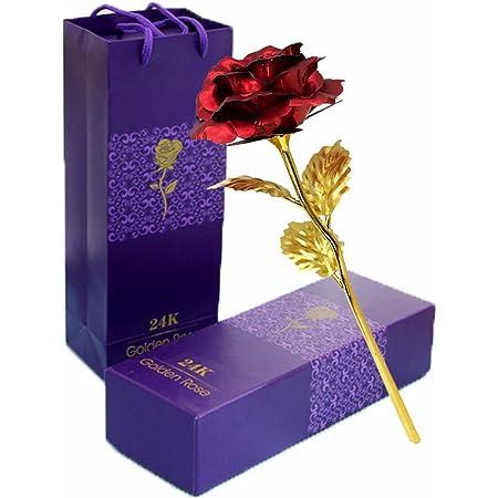 24K Gold Rose Galaxy Rose Handgefertigt Konservierte Rose mit Stand und Geschenkbox K/ünstliche Rose Geschenk f/ür Frauen Freundin Valentinstag Muttertag Geburtstag Hochzeitstag Jahrestag Weihnachten