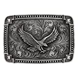Montana Silversmiths Soaring Eagle Collection Attitude Buckle (Tied At The Corners - Antiqued Silver)