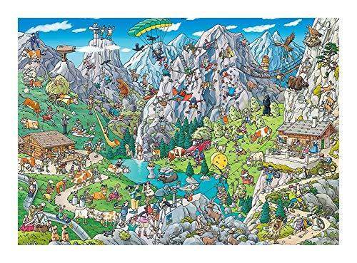 Colección de Dibujos Animados clásicos Rompecabezas Rompecabezas -Al Aire Libre Deportes Extremos 300/500/1000 Piezas for Adultos de los niños, único Corte de Piezas entrelazadas Puz