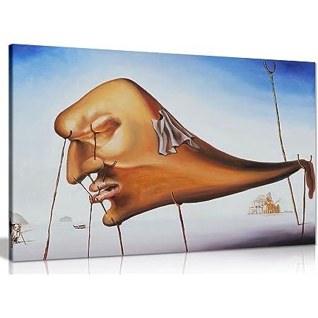 Salvador Dali Tigers Canvas Wall Art Picture Print