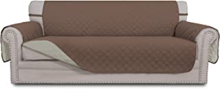 Best Easy-Going Sofa Slipcover Reversible Sofa Cover Water Resistant Couch Cover Furniture Protector with Elastic Straps for Pets Kids Children Dog Cat(Oversized Sofa, Brown/Beige) Reviews