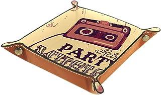 Vockgeng Radio de Musique Classique Boîte de Rangement Panier Organisateur de Bureau Plateau décoratif approprié pour Bure...
