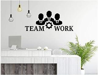 Qinyubing Sticker Mural Bureau Devis De Travail D'Équipe Art Bureau Autocollants Affaires Vinyle Mur Amovible Peinture Mur...