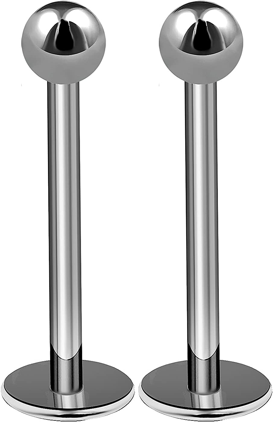 bodyjewellery 2pcs 16g Titanium Labret Studs Conch Piercing Lip