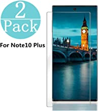 Samsung Galaxy Note 10 +/Note 10 Plus Tempered Glass Screen Protector, [2-Pack] Anti-Scratch, Bubble Free and Case Friendl...