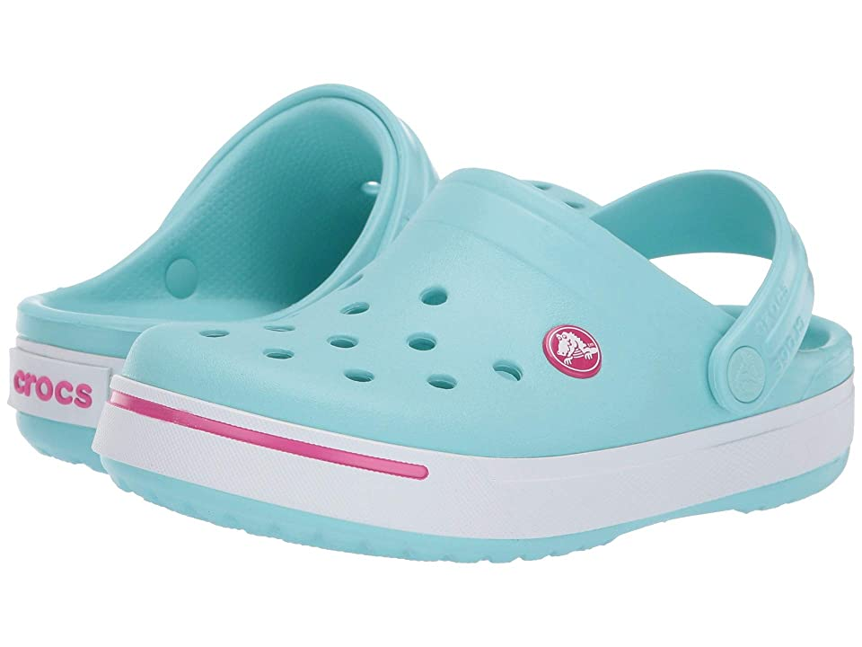 Crocs Kids Crocband II (Toddler/Little Kid) (Ice Blue/Candy Pink) Kid