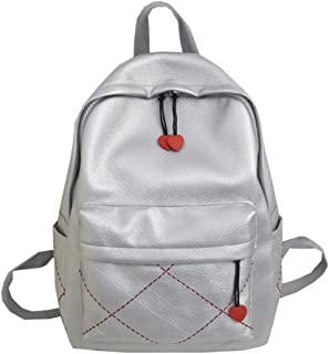 Women's backpack sweet lady style backpack solid color simple fashion backpack