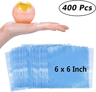 Kuqqi 400 Pcs 6 x 6 inch Shrink Wrap Bags for Soaps, Bath Bombs, Bottles, and DIY Crafts