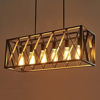 Joypeach 6 Light Nordic Creative Personality Retro Lighting Restaurant Lights Bar style Iron industry Chandelier for Living Room 110V